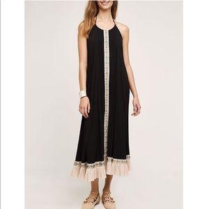 Flannel | Black Ruffle Tisa Halter Dress